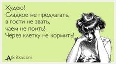 Аткрытка №401862: Худею! Сладкое не предлагать,  в гости не звать,  чаем не поить!  Через клетку не кормить! - atkritka.com