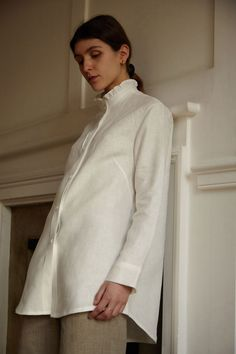 Irish linen MILANA shirt, made in Ireland, by 31 Chapel Lane