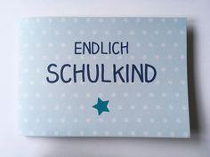 Weiteres - Einschulungsalbum Schule Erinnerungsalbum blau - ein Designerstück von OOH-HAPPY-DAY bei DaWanda