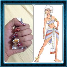 Disney Nail Art. Kidagakash (Kida), Atlantis the Lost Empire.