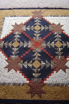 Interesting quilt and beautiful quilting.