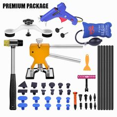 Auto Replacement Parts: SALE PDR Tools Paintless Dent Removal Car Repair Tool Kit Removing Dents Auto Tools Puller Dent Lifter Pulling Bridge Suction Cups Auto Body Repair, Car Repair, Car Buying Tips, Damaged Cars, Car Tools, Repair Shop, Car Detailing, The Body Shop, Tool Kit