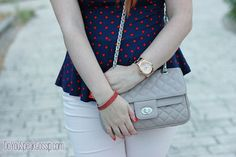 Pastels, navy and polka dots - #outfit - DoYouSpeakGossip.com