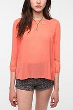 Urban Outfitters - Pins and Needles Lace Inset Blouse