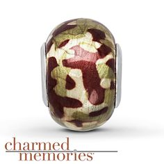 885a58820 Charmed Memories Camouflage Murano Glass Sterling Silver Charm Kay Jewelers,  Murano Glass, Silver Charms
