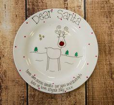 Dear Santa Treat Plate - The Supermums Craft Fair