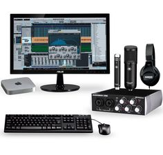 The Complete Desktop Recording Studio with Mac Mini V4 provides all the hardware and software you need to write, compose and record your music from start to finish. With the power of PreSonus Studio One Producer, Slate Audio Virtual Processor Rack, Garage Band, and a collection of compressors, equalizers, mastering plugins, and modeling software, including vocal processing and synths, you have the all the creative control you need to sculpt your music without limits.