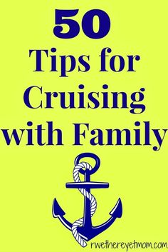 Don't head out on a cruise without looking at our 50 Tips for Cruising with Family and Kids. These tips come from travel writers all over the world!