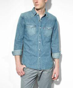 9320b4e196 Barstow Western Shirt - Stonewash Denim - Western Shirts  Levis  68 Cowboy  Gear