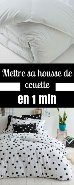 Qui n'a jamais connu ce calvaire, lorsqu'on se retrouve avec sa couette et cette fameuse housse qu'on arrive jamais à... Diy Organisation, Comforters, Bed Pillows, Life Hacks, Pillow Cases, Sweet Home, Blanket, Bedroom, Simple