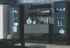 Komoda SOHO černá matná/černý lesk Komodo, Drip Coffee Maker, Soho, Liquor Cabinet, Kitchen Appliances, Home Decor, Diy Kitchen Appliances, Home Appliances, Decoration Home