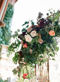 Gorgeous arch flowers: http://www.stylemepretty.com/canada-weddings/british-columbia/whistler/2015/09/11/romantic-lakeside-fall-whistler-wedding/ | Photography: Gucio - http://www.guciophotography.com/