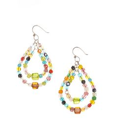 Take a look at this Rainbow Mosaic Bead Graduated Teardrop Earrings today!