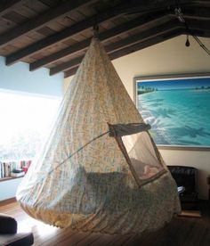 hanging tent bed?