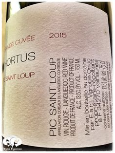 Score 92/100 Wine review, tasting notes, rating of Hortus Grande Cuvée Pic Saint Loup red. Description of aroma, palate profile, flavor. Join the experience