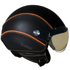 Vintage Open Face Motorcycle Helmet