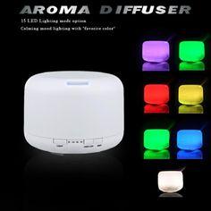 500 미리리터 15 색 변하기 쉬워 LED 에센셜 오일 아로마 디퓨저 초음파 가습기 미스트 메이커 홈 & 침실 110-240 볼트