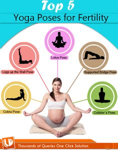 Top 5 #Yoga Poses For #Fertility [#INFOGRAHIC]   #yogaposesforfertility #fertilityyoga