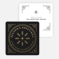 Classic Foil Snowflake Corporate Holiday Cards                                                                                                                                                                                 More
