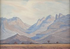 Pierneef South Africa Art, African Paintings, Composition, Landscapes, Van, Colours, Watercolor, Artists, Contemporary