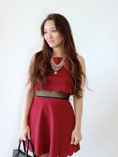 The Scalloped Skater Dress