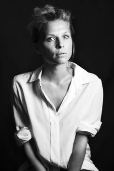 Clémence Poésy. Liking the width of whatever the band covering the buttons is called