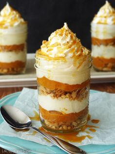 No Bake Pumpkin Pie In A Jar | by Life, Love and Sugar | Recipe from Life of Love and Sugar