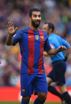 Arda Turan of Barcelona celebrates after scoring during the International Champions Cup series match between Barcelona and Celtic at…