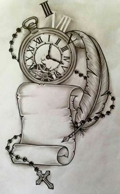 Trendy Tattoo Compass Drawing Design Your Ideas - tattoo, jewerly, other accessories . - Trendy Tattoo Compass Drawing Design Your Ideas – tattoo, jewerly, other accessories – - Tatto Clock, Clock Tattoo Design, Tattoo Design Drawings, Tattoo Sketches, Tattoo Designs, Clock Tattoos, Tattoo Ideas, Clock Drawings, Drawing Tattoos