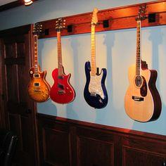 Displaying guitars