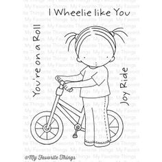 Pure Innocence I Wheelie like You Hand Embroidery Videos, Embroidery Patterns, Scrapbook Expo, Envelope Art, Sketch Notes, Card Companies, Mft Stamps, Cross Stitch Animals, Copics