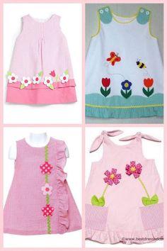 Baby Girl Frocks, Frocks For Girls, Dresses Kids Girl, Kids Outfits, Girls Frock Design, Baby Dress Design, Kids Fashion Wear, Kids Dress Patterns, Creation Couture