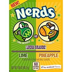 Nerds Lucha Grande Lime & Pinaapple 24 X American Candy Sweets for sale online Lima, Sugar Free Hard Candy, Beverages, British Sweets, Strawberry Sweets, Nerds Candy, Candy