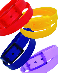 Winky Designs- Truly egalitarian, the recyclable plastic belts from Winky Designs feature a cut to fit measurement and fun recyclable packaging. They come in 3 sizes, classic, silm and kids.  www.winkydesigns.com www.lvsouvenirshow.com