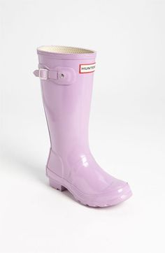 Hunter's Original Gloss Rain Boot - buying the big kid size which ...