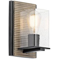 """143.00 Millwright 9"""" High Distressed Antique Gray Wall Sconce - #9D844 