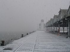 antwerp: harbor? in the snow