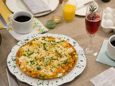 Get Tiffani Thiessen's Goat Cheese and Red Pepper Frittata Recipe from Cooking Channel