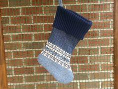Sweater Christmas Stocking Holiday Stocking by KatesHandiwork