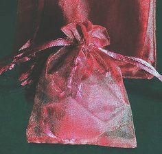 50x Solid Wine Dark Red Organza Bag Pouch for New Year Gift 12x9cm(4.5x3.5inch), $$6.85
