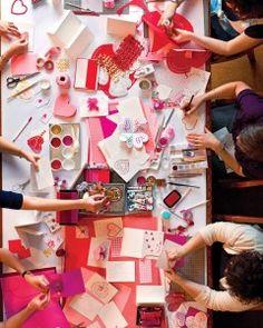 my kind of party! / valentine's day crafternoon party / martha stewart