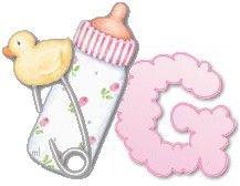 Alfabeto do bebê - baby alphabet - Gifs lindas de coisinhas de Bebê! - Alfabetos Lindos