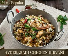 How to make a delicious Hyderabadi Chicken Biryani: an aromatic Indian rice made with herbs and spices! All You Need Is, Baked Goat Cheese, Sticky Date Pudding, Flat Pan, Chicken Spring Rolls, Indian Food Recipes, Ethnic Recipes, Fried Onions, Garam Masala