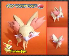 Pokemon - Fennekin Ver.2 Free Papercraft Download - http://www.papercraftsquare.com/pokemon-fennekin-ver-2-free-papercraft-download.html