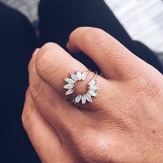 Opal Caribbean Sunrise Ring
