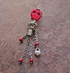 Mod charm  Ecig charm  or  Tank charm  Vape Bling Skull Bead Skeleton with Heart Padlock by VapingTreasures, $14.00