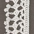 Suite de la série des tuto/diagrammes de bordures au crochet (tout les tuto de bordure ici). Vous pourrez les assembler à vos différents...
