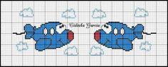 Robyn-Lynne's little plane Easy Cross Stitch Patterns, Simple Cross Stitch, Cross Stitch Baby, Cross Stitch Alphabet, Cross Stitch Boards, Cross Stitch Bookmarks, Cross Stitching, Cross Stitch Embroidery, Tapestry Crochet