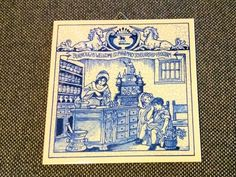 Pill Tile by Delfts Schoonhaven  HANDMADE  Holland by baileyrichardscloset on Etsy