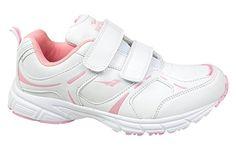 GIBRA® Damen Sportschuhe mit Klettverschluss, weiß/rosa, Gr. 37 - Sportschuhe für frauen (*Partner-Link)